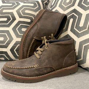 Clarks Vargo Apron Dark Brown Leather Boots - 8.5M